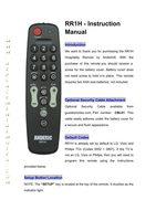 ANDERIC rr1hom Operating Manuals