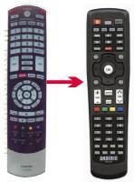 ANDERIC RR90395 Toshiba TV Remote Control