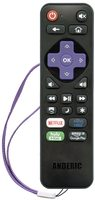 ANDERIC RRLC16.2 Roku TV Universal with Learning preprogrammed for Sharp Roku TV Remote Control