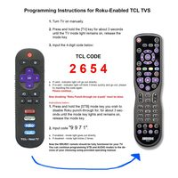 ANDERIC RRUR01 Designed for Roku with Backlight & Learning 3-Device Universal Remote Control