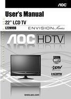 AOC L22H998OM Operating Manuals