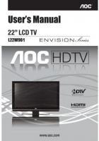 AOC L22W961OM Operating Manuals