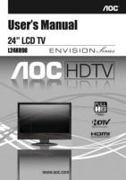 AOC l24h898om Operating Manuals