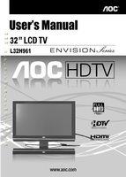 AOC L32H961OM Operating Manuals