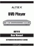 APEX ad1118om Operating Manuals