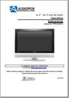 AUDIOVOX fpe3206dvom Operating Manuals