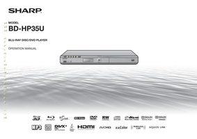 SHARP bdhp35uom Operating Manuals