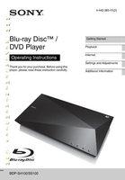 SONY bdpbx510om Operating Manuals