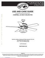 Hampton-Bay 41350campbell52inceilingfanom Operating Manuals