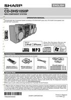 SHARP cddhs1050pom Operating Manuals