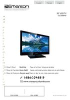 EMERSON clc320em2f Operating Manuals