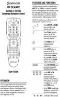 comcast tv remote controls operating manuals comcast. Black Bedroom Furniture Sets. Home Design Ideas
