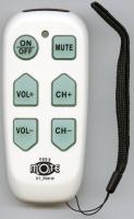 Continu.us White Big Button Jumbo Senior Assisted Living Simple Easy Mote 1-Device Universal Remote Control