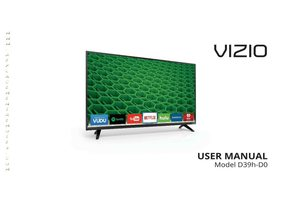 VIZIO d39hd0om Operating Manuals