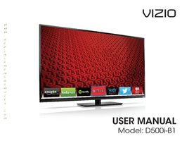 VIZIO d500ib1om Operating Manuals
