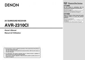 DENON AVR2310CIOM Operating Manuals