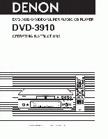 DENON dvd3910som Operating Manuals