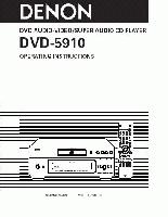 DENON dvd5910ciom Operating Manuals