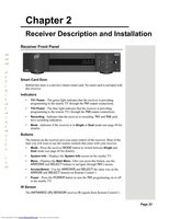 Dish-Network 625OM Operating Manuals