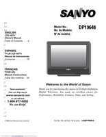SANYO dp19648om Operating Manuals