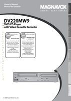 Magnavox dv220mw9om Operating Manuals