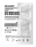 SHARP dvrw340om Operating Manuals