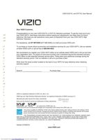 VIZIO E321VLOM Operating Manuals