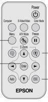 Epson 1178031 Remote Controls
