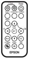 Epson 1261258 Remote Controls