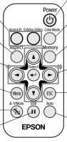Epson 1266449 Remote Controls