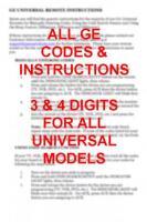 GE General Electric ge codebookom Operating Manuals