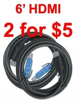 6 foot HDMI Cable 2 pack/HDMI6/2pack