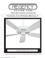Regency REGENCYGLADIATORGL3CEILINGFANOM Operating Manuals