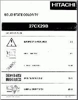 HITACHI 27cx29bom Operating Manuals