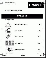 HITACHI 27gx01bom Operating Manuals