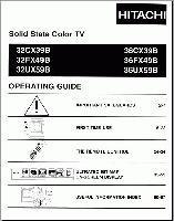HITACHI 32cx39bom Operating Manuals