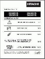 HITACHI 32gx01bom Operating Manuals