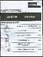 HITACHI 32hdt20om Operating Manuals