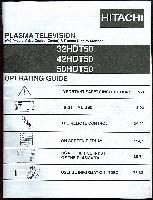 HITACHI 32hdt50om Operating Manuals
