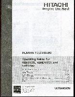 HITACHI 42HDS52OM Operating Manuals