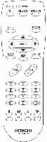 HITACHI clu381ug Remote Controls