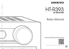 ONKYO htr393om Operating Manuals