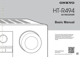 ONKYO htr494om Operating Manuals
