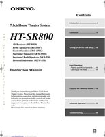 ONKYO htr550om Operating Manuals
