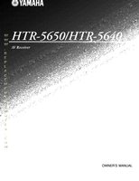 YAMAHA htr5650/htr5640 Operating Manuals