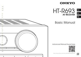 ONKYO htr693om Operating Manuals