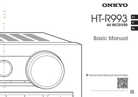 ONKYO htr993om Operating Manuals