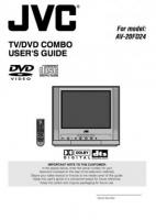 JVC av20fd24om Operating Manuals