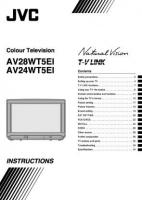 JVC av24wt5eisom Operating Manuals