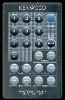 KENWOOD kdcc10fmx Remote Controls